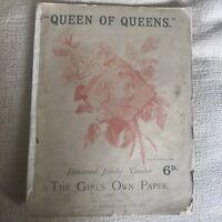 1897 *RARE*The Girl's Own Paper Diamond Jubilee Queen Of Queens