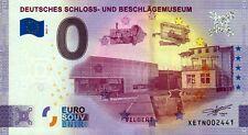 Null Euro Schein - 0 Euro - Deutsches Schloss- und Beschlägemuseum 2021-1 Anniv.