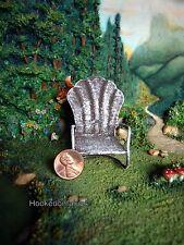 Glider Chair Shell shaped White  MI 50809 Miniature Fairy Garden Dollhouse