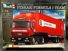 Revell of Germany 1/24 Ferrari Formula 1 Team Truck and Trailer # 07561