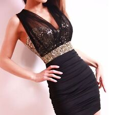 Sexy Lace Short Tight Mini Luxury Club Party Satin Women Sequined Dress C096 AU