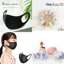 5 pcs Washable Cotton Half Face Cloth Masks For Kids/Teenagers/Adult Mouth Cover
