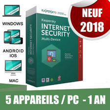 Kaspersky internet security 2018  5 pc appareils Pc 1 An