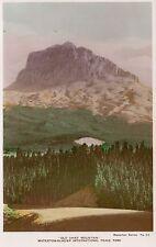 Old Chief Mountain WATERTON-GLACIER PEACE PARK Alberta Canada Spalding RPPC 63