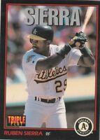 FREE SHIPPING-MINT-1993 Triple Play #60 Ruben Sierra Oakland Athletics Baseball