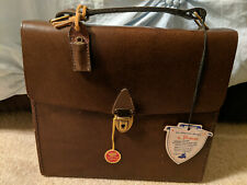Vintage Bosca Travel Bar In Leather Case And Two Decanters