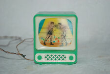 Vintage Germany Dollhouse TV moving picture of boxers