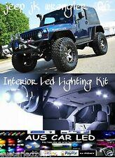 Jeep JK Wrangler 97-06 model White LED Interior Light Conversion Kit 4 piece kit