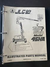Jlg 45ha Top Gun Aerial Boom Lift Parts Catalog Book Guide List Manual Shop Oem