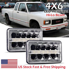 "4x6"" inch LED Headlight Hi-Lo Beam Headlamp Light DRL For GMC Sonoma 1994-1997"