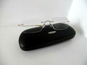Unisex Silhouette Titan Gold Rimless Eye Glasses 7395 20 6051 140 Made Austria