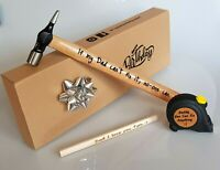 Father Day gift for him Personalised Hammer Tape Pencil Engraved Dad Father Man