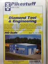 Pikestuff HO Scale Diamond Tool & Engineering Building Kit NEW 541-0018