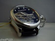 Invicta Men's Russian Diver Bridge Automatic Silver Tone SS Leather Strap Watch!