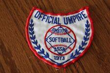 Vintage 1973 Amateur Softball Association Official Umpire Patch