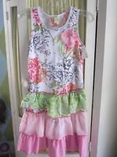NWT TWIRLS & TWIGS girls tiered ruffle floral dress Sz 14 $42