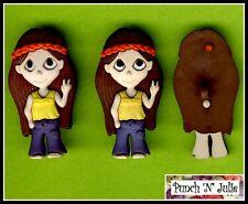 Esprit hippie fille-Hippy Chick Festival Nouveauté robe it up boutons Craft