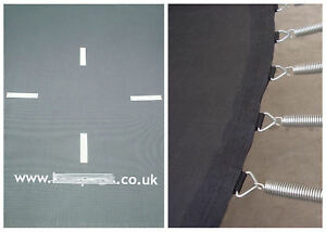 REPLACEMENT TRAMPOLINE JUMPING MAT/JUMPING MESH, SPRINGS AND SPRING TOOL SET