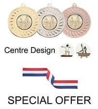 SPECIAL OFFER 10x Gymnastics 50mm Metal Medals & Ribbon