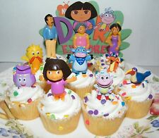 Nickelodeon Dora The Explorer Cake Toppers Set of 10 with Dora, Boots and More!
