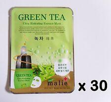30pcs Korea beauty cosmetic [Malie] GREEN TEA Essence Face Mask sheet 0.88oz/25g