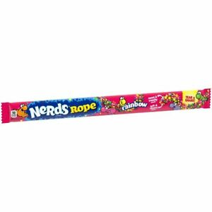 Wonka Rainbow Nerds Ropes - Nerds Rope American Sweets Chewy Crunchy Candy 26g