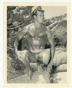 Bruce Of LA 1950 Original Gay Physique Photo Beefcake Stunning Male Nude Q7307
