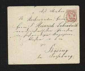 5 Kreuzer Ganzsachen-Brief  aus Prag Hradschin nach Bösing