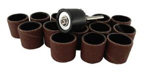 """15pc 1/2"""" 12.5Mm 180 Grit Drum Sanding Sleeves Wood, Metal, Nails, 4 Dremel etc"""
