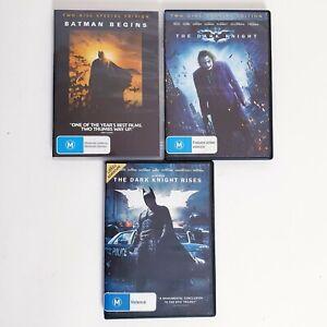 Batman The Dark Knight Trilogy 3 x Movie Set DVD Region 4 AUS Free Postage