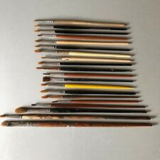 Vintage Water Color PAINT BRUSH Lot of 20 Sable Hair Artist Painter