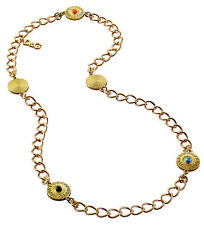 D&G Dolce & Gabbana DJ1029 BELLE Damen Halskette Collier Edelstahl Gold NEU