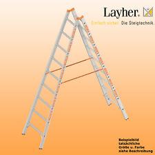 Layher Alu Sprossenstehleiter, 2x9 Spr., L=2,70m, Bockleiter Topic Typ 1039.009