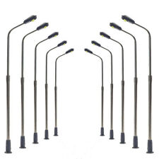 LQS06 10pcs Model Railway Train White Lamp Post Street Lights N Scale LEDs 6.2cm
