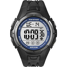 Timex T5K359 Mens Marathon Black Resin Strap Digital Watch