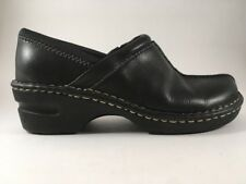 Eastland Kelsey Black Leather Shoes Clogs Women's 7.5M Comfort