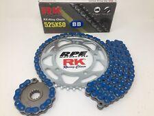 Blue 1999-09 Suzuki SV650s RK 525xso 15/44 OEM Ratio Chain and Sprockets Kit