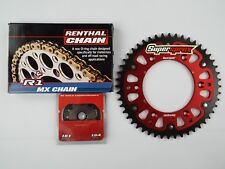 Honda CRF450 Gold Renthal R1 Chain And Supersprox RED Stealth Sprocket Kit