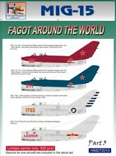 H-Model Decals 1/72 Mikoyan MiG-15 Fagot Around the World, Pt.3 # 72015