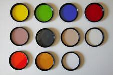 Lot of 10 vintage 46mm filters-HCE, Hoya, Tiffen, Vivitar