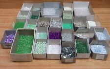 7 LB Lot Loose Pearls, Beads & Sequins Mint Green Purple Crystal Craft Jewelry