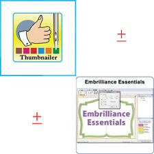 Embrilliance Essentials + Embrilliance Thumbnailer Software & Embroidery Machine