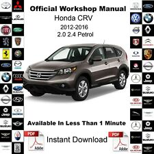 Honda CR-V CRV 2012-2016 Factory Service Workshop Repair Manual