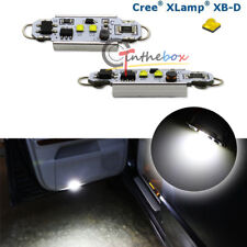 "2x 1.72"" Bright White Rigid Loop LED Bulbs For Car Door Trunk Area Festoon Light"
