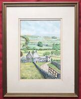 Original Art Watercolour Painting Yorkshire Dale Farm By Irish Artist D Woods