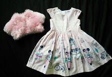 Girls Rosa Disney Store partito abito da sposa e Bolero Scrollata Di 2 anni