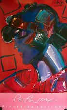"PETER MAX CRIMSON LADY ORIGINAL POSTER 1987 37 5/8"" X 23 1/2"" ROLLED"