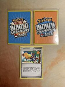 Viento Tropical Spanish Worlds 2008 Pokemon Card Promo Tropical Wind DP25 +extra