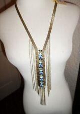 Macys Beaded Chain Fringe Necklace NWT