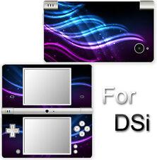 Wavy Neon Blue Purple Fashion SKIN DECAL VINYL STICKER COVER for Nintendo DSi
